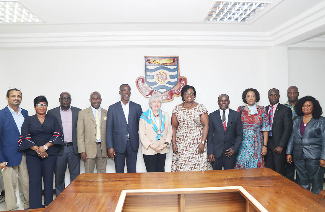 The American Ambassador with the Pro VC and other officials of the University