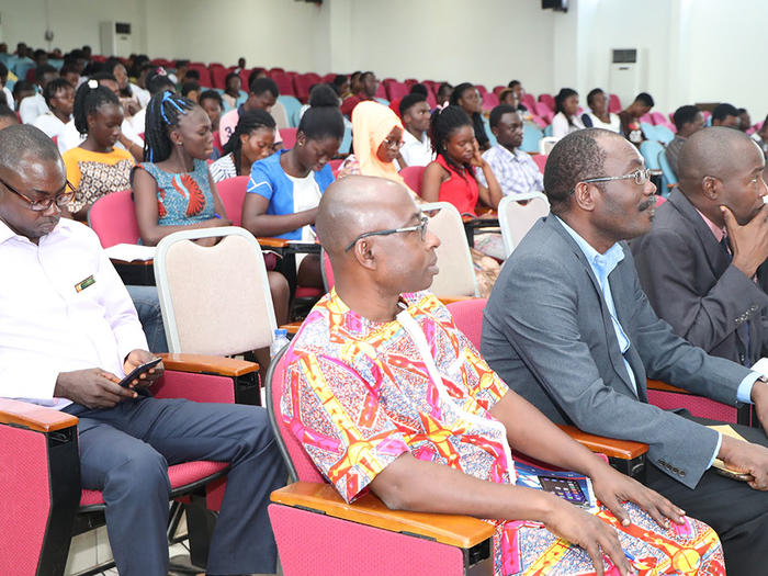 A section of students at the programme