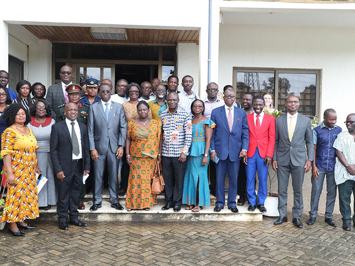 The Vice-Chancellor with the Affiliate Institutions