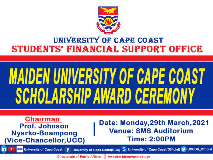 Maiden UCC Scholarship Awards Ceremony